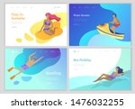 landing page set with people... | Shutterstock .eps vector #1476032255