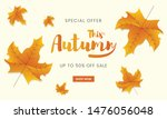 autumn sale banner template. ... | Shutterstock .eps vector #1476056048