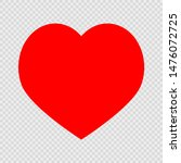 red heart on a transparent...   Shutterstock . vector #1476072725