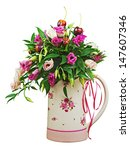 colorful flower bouquet from... | Shutterstock . vector #147607346