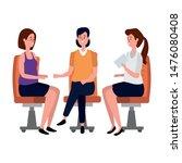 elegant businesswomen workers... | Shutterstock .eps vector #1476080408