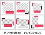 set of editable square banner... | Shutterstock .eps vector #1476084608