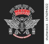 motor speedway. poster template ... | Shutterstock .eps vector #1476094322