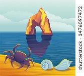 the golden gate rock in... | Shutterstock .eps vector #1476097472