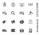 e commerce vector icons set...