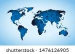 blue world map triangle... | Shutterstock .eps vector #1476126905