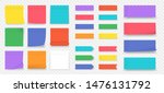 sticky notes. paper colored... | Shutterstock .eps vector #1476131792