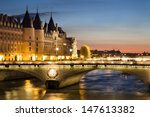 View Of Paris By Night With A...
