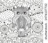 abstract pattern with owl on... | Shutterstock .eps vector #1476137732