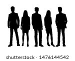 vector silhouettes of  men and... | Shutterstock .eps vector #1476144542