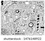 modern monochrome doodle poster ... | Shutterstock . vector #1476148922