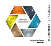 modern hexagon infographics... | Shutterstock .eps vector #147615392