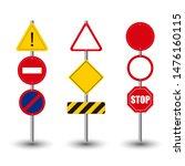 realistic street signs... | Shutterstock .eps vector #1476160115