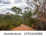 Avon Valley National Park former railway track leading through nature close to Perth West Australia