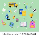 flat design of school supplies. ... | Shutterstock .eps vector #1476165578