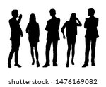 vector silhouettes of  men and... | Shutterstock .eps vector #1476169082