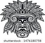 native american head design for ... | Shutterstock .eps vector #1476180758