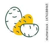 potato color line icon. natural ...