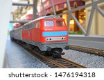 Miniature Red Toy Train With A...