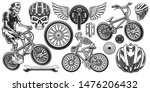 set of black and white design... | Shutterstock .eps vector #1476206432