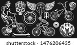 cyclist clipart. set of black... | Shutterstock .eps vector #1476206435
