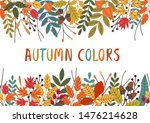 seamless horizontal banner with ... | Shutterstock .eps vector #1476214628