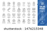 solar panel outline icon set... | Shutterstock .eps vector #1476215348