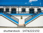 Small photo of Itapissuma, Brazil - Circa July 2019: Historic building now being used as the city council in the historic center of Itapissuma