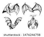bat sketch. hand drawn... | Shutterstock .eps vector #1476246758