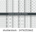 set of seamless geometric... | Shutterstock .eps vector #1476252662