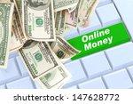 online money keyboard enter...   Shutterstock . vector #147628772