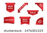 sale ribbons banners in red.... | Shutterstock .eps vector #1476301325