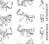 bow sketch isolation on a white ... | Shutterstock .eps vector #1476318125
