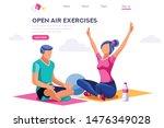 relaxation sport clipart.... | Shutterstock .eps vector #1476349028