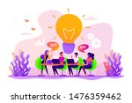 sharing thoughts  ideas ... | Shutterstock .eps vector #1476359462
