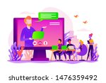 webinar and employees training. ... | Shutterstock .eps vector #1476359492