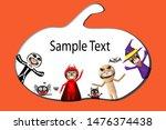 halloween kids costume party.... | Shutterstock .eps vector #1476374438