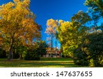 Mansion And Autumn Colors In...