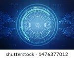 digital abstract technology...   Shutterstock . vector #1476377012