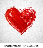 card with grunge heart and... | Shutterstock . vector #147638345
