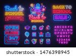 school neon icons set. back to... | Shutterstock .eps vector #1476398945