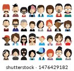 set of people avatars  icons in ... | Shutterstock .eps vector #1476429182