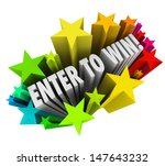 the words enter to win in a... | Shutterstock . vector #147643232