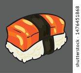 illustrator sushi salmon japan...