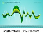 abstract motion sound wave... | Shutterstock .eps vector #1476466025