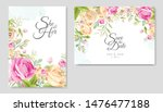 wedding invitation card with... | Shutterstock .eps vector #1476477188