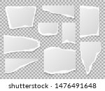 torn paper. different shapes of ... | Shutterstock .eps vector #1476491648