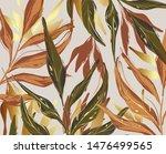 modern palm leaves  gold  green ...   Shutterstock .eps vector #1476499565