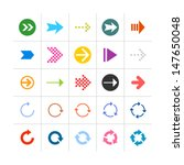 25 arrow sign icon set 03.... | Shutterstock .eps vector #147650048