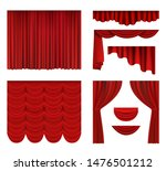 red curtains. theater fabric... | Shutterstock .eps vector #1476501212